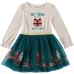 Little Lass Little Girls All I Wish For Glitter Tulle Dress
