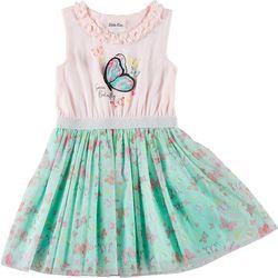 Little Lass Little Girls Butterfly Tutu Dress