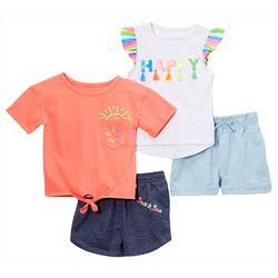 Freestyle Little Girls 4-pc. You're My Sunshine Shorts Set