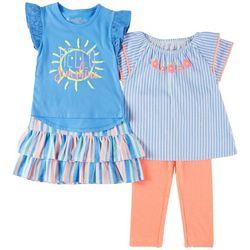 Freestyle Little Girls 4-pc. Hello Sunshine Skirt Set