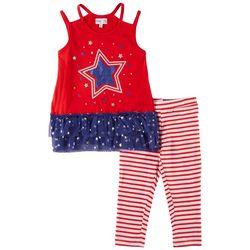 Freestyle Little Girls 2-pc. USA Stars & Stripes