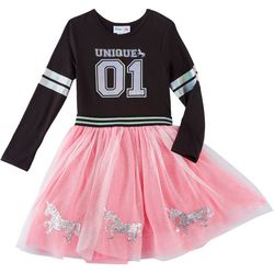 Freestyle Big Girls Unique Tutu Long Sleeve Dress