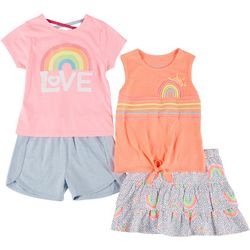 Freestyle Little Girls 4-pc. Love Rainbow Set