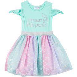 Freestyle Little Girls Im Really A Mermaid Tutu Dress