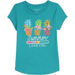 Nautica Little Girls Summer Loading T-Shirt