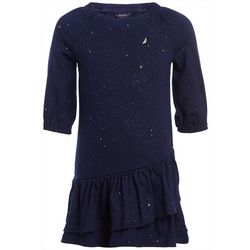 Nautica Little Girls Glittery Drop Waist Dress