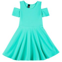 Pinc Kids Little Girls Textured Cold Shoulder Dress
