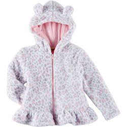 Penelope Mack Little Girls Leopard Print Fleece Jacket