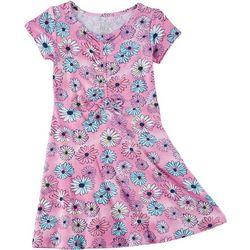 Star Ride Little Girls 2-pc. Short Sleeve Floral Print Dress
