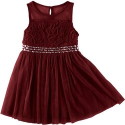 RMLA Little Girls Rhinestone Waist Band Dress