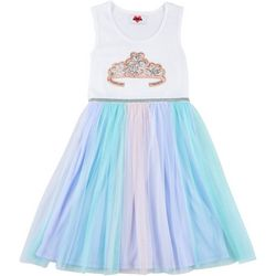 RMLA Little Girls Crown Sequin Tulle Dress
