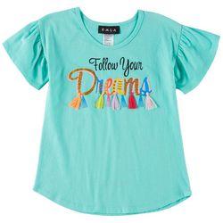 RMLA Little Girls Follow Your Dreams Short Sleeve T-Shirt