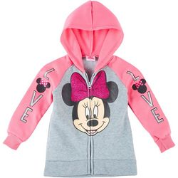 Disney Little Girls Long Sleeve Minnie Mouse Love Hoodie