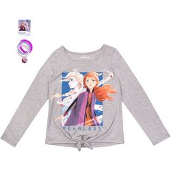 Disney Frozen II Little Girls 2-pk Fearless Top & Hair Ties