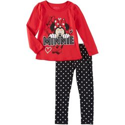 Disney Minnie Mouse Little Girls Polka Dot Leggings Set