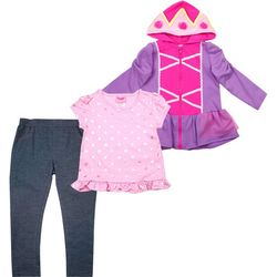 Nannette Little Girls 3-pc. Princess Jeggings Set
