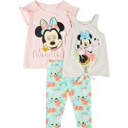 Disney Minnie Mouse 3-pc Little Girls Paradise Leggings Set