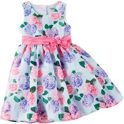 Nannette Little Girls Sleeveless Floral Dress