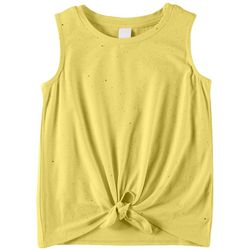 It's Our Time Little Girls Glitter Tie Front Tank