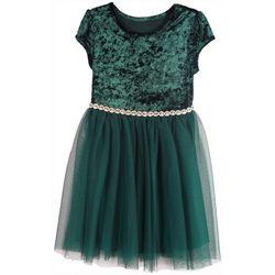 Zunie Little Girls Velvet Tulle Dress