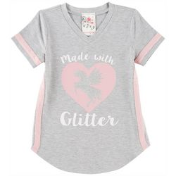 Lily Bleu Little Girls Made With Glitter T-Shirt