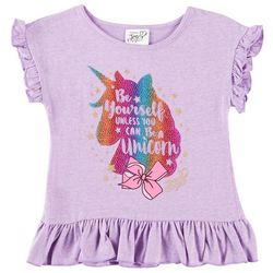 Nickelodeon JoJo Little Girls Be Yourself Unicorn Top