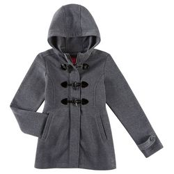 Pink Platinum Little Girls Toggle Closure Hooded Jacket