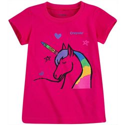 Crayola Little Girls Colored Unicorn T-Shirt
