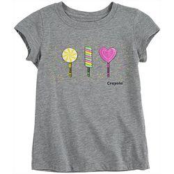 Crayola Little Girls Lollipops Graphic T-Shirt