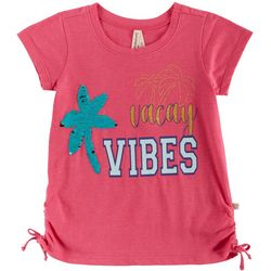 Love @ First Sight Little Girls Vacay Vibes Sequined Top
