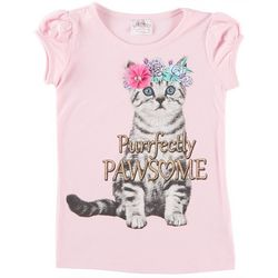 Beautees Little Girls Purrfectly Pawsome T-Shirt