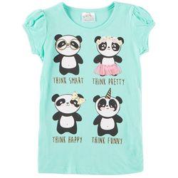 Beautees Little Girls Four Pandas T-Shirt