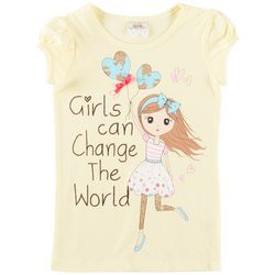 Beautees Little Girls Girls Can Change The World T-Shirt