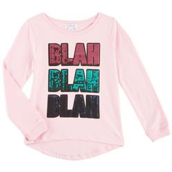 Flapdoodles Little Girls Blah Blah Blah Long Sleeve T-Shirt