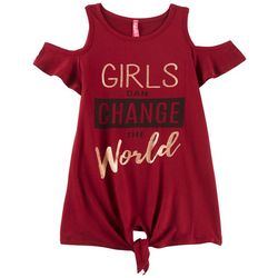 Cute 4 U Little Girls Girls Can Change The World T-Shirt