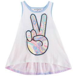 Kidtopia Little Girls Peace Tank Top