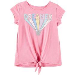 Kidtopia Little Girls Dreamer Tie Front T-Shirt