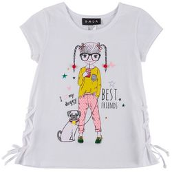 RMLA Little Girls Best Friends Short Sleeve T-Shirt
