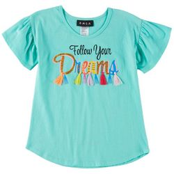 RMLA Little Girls Follow Your Dreams Short Sleeve T-Shirt