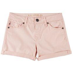 Vigoss Little Girls Solid Roll Cuff Hem Shorts