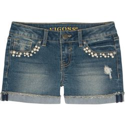 Vigoss Little Girls Pearls Galore Denim Shorts