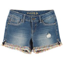 Vigoss Little Girls Pixel Art Denim Shorts
