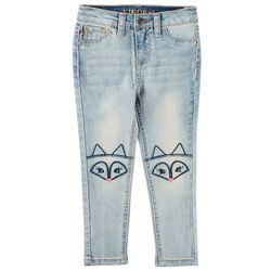 Vigoss Little Girls Embroidered Fox Knee Skinny Jeans