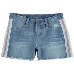 Vigoss Little Girls Frayed Side Taping Denim Shorts