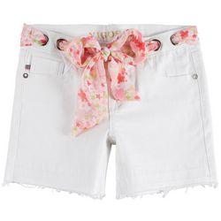 Vigoss Little Girls Solid Belted Twill Shorts