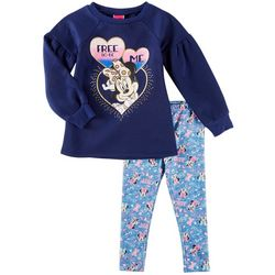 Disney Minnie Mouse Little Girls Free To Be Me Leggings Set