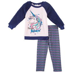 Forever Me Little Girls Rainbow Unicorn Sweater Leggings Set