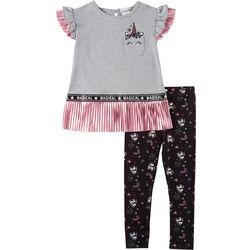 Forever Me Little Girls 2-pc. Unicorn Foil Leggings