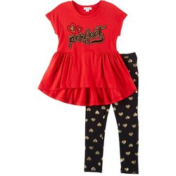 Flapdoodles Little Girls 2-pc. Perfect Leggings Set