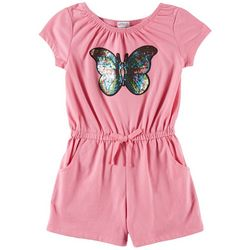 Flapdoodles Little Girls Sequin Butterfly Romper